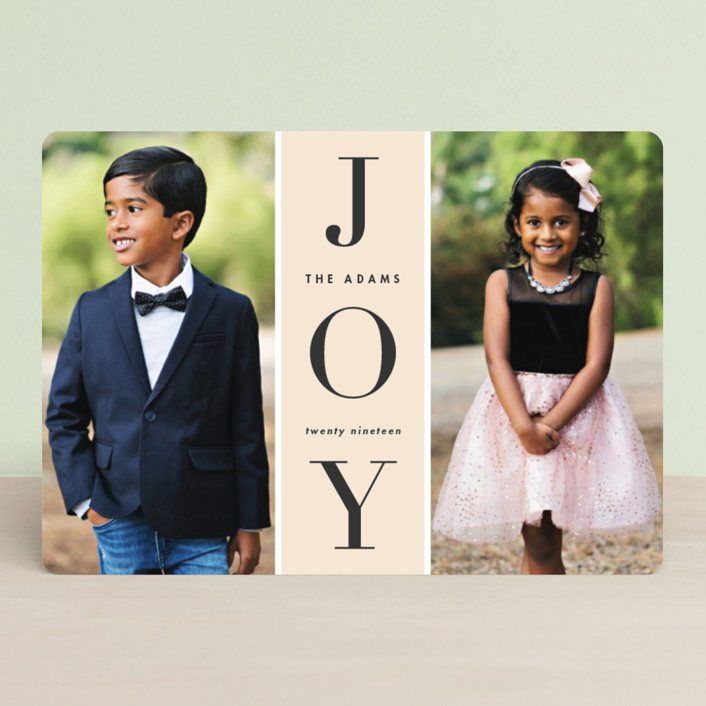 """""""Original Joy"""" - Holiday Photo Cards in Pudding by heythird."""