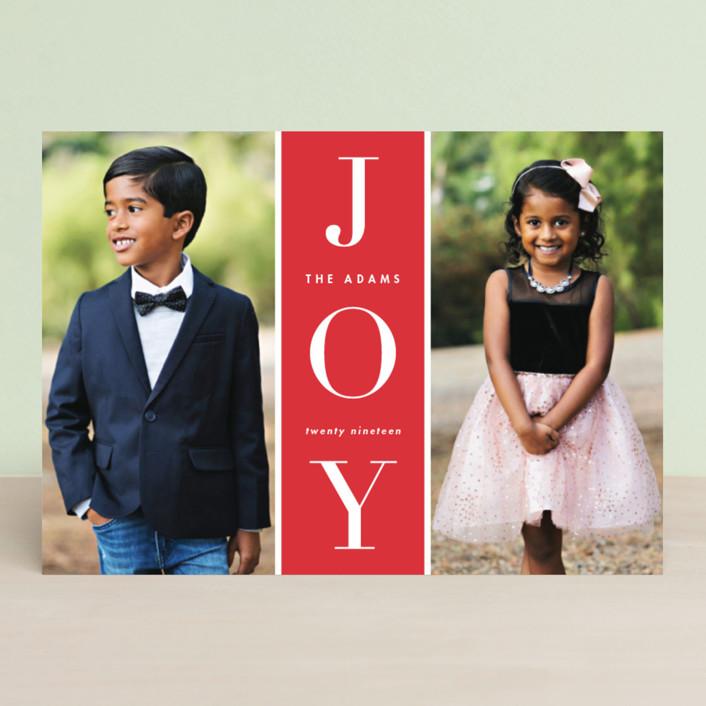 """Original Joy"" - Holiday Photo Cards in Poinsettia by heythird."