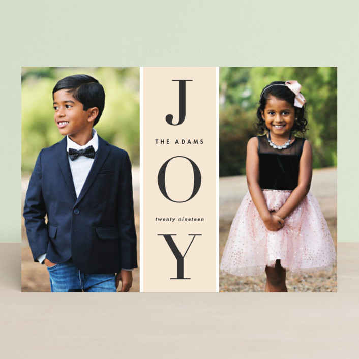"""Original Joy"" - Holiday Photo Cards in Poinsettia by heythird."