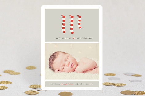 A New Stocking Holiday Photo Cards