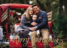 Classic Merry Holiday Photo Cards By Alston Wise