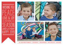 Wish Banner Holiday Photo Cards By The Social Type
