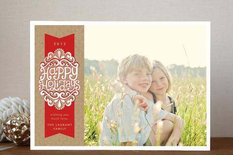 A Kraft Ribbon Holiday Photo Cards
