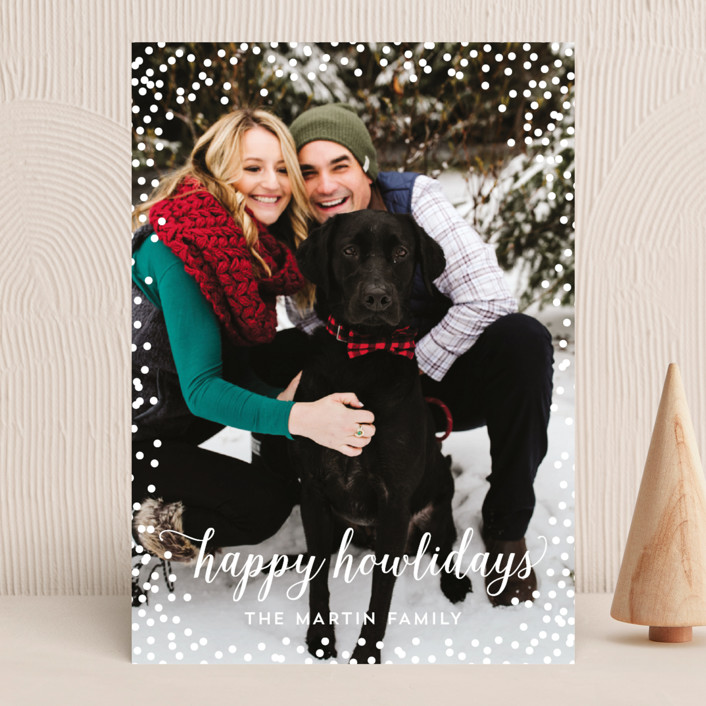 """Confetti Howlidays"" - Holiday Photo Cards in Snow by Nicole Barreto."