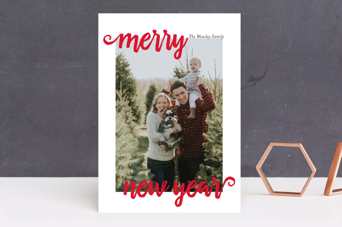 """""""Christmas Merry"""" - Holiday Photo Cards in Scarlett by chica design."""