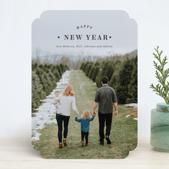 """Merrily Framed"" - Holiday Photo Cards in Slate by Kasia Labocki."