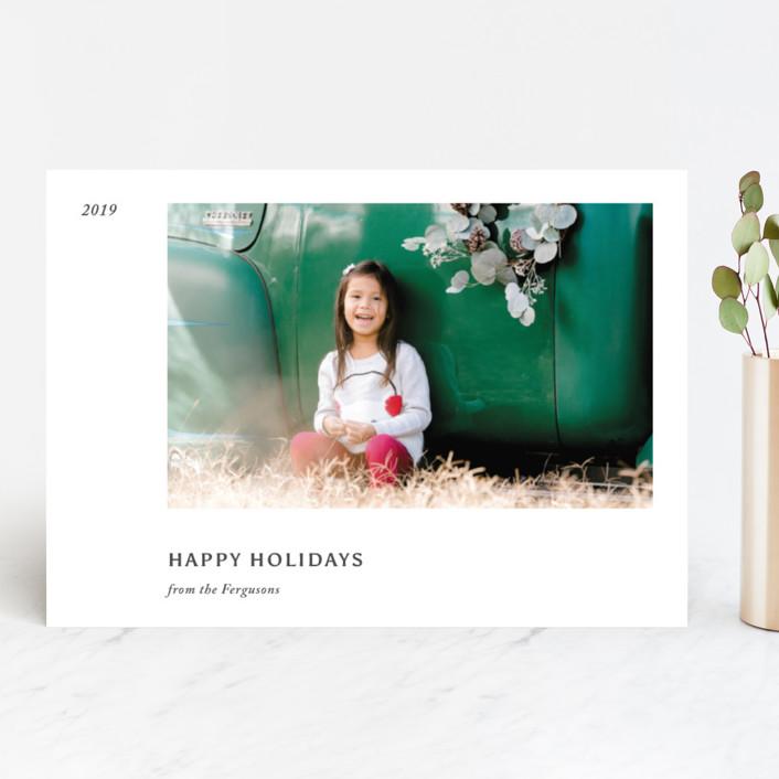 """Leaflet"" - Holiday Photo Cards in Slate by Jack Knoebber."