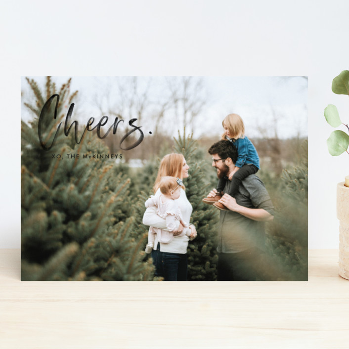 """""""Merry Painted"""" - Holiday Photo Cards in Onyx by Erika Firm."""
