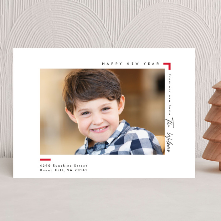 """""""Moving"""" - Holiday Photo Cards in Cardinal by Owl and Toad."""