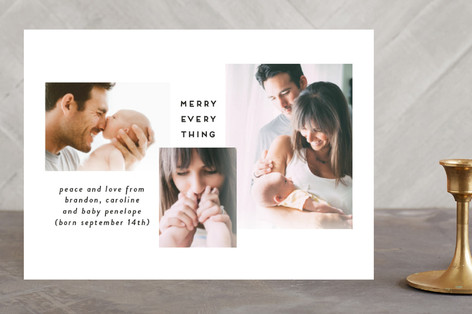 Modern Grid Holiday Photo Cards