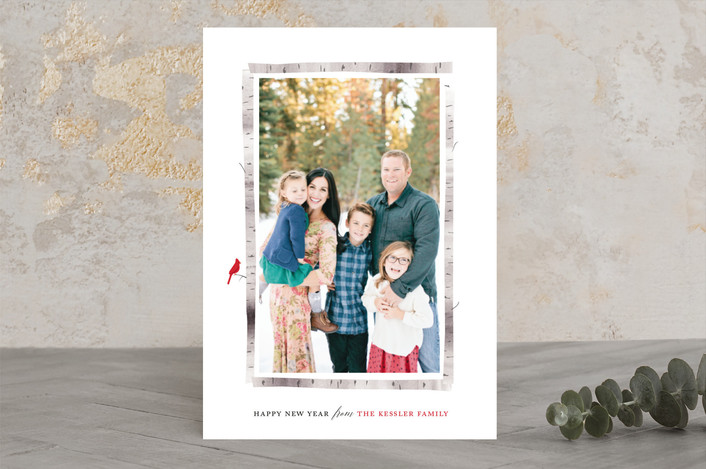 Birch Frame Holiday Photo Cards by Ellis | Minted