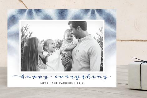 Shibori Happy Everything Holiday Photo Cards