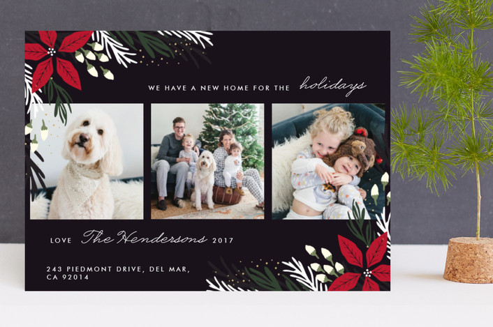 """Merry Home"" - Holiday Photo Cards in Onyx by Oma N. Ramkhelawan."