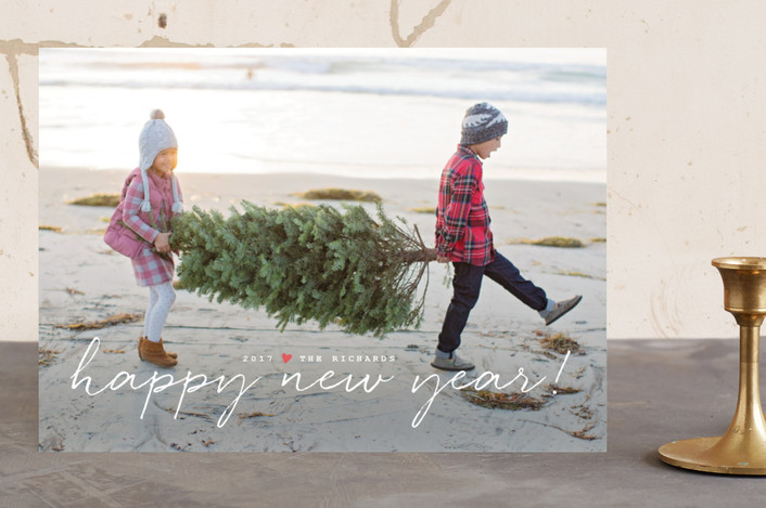 """""""Oh Happy Day"""" - Full-Bleed Photo, Modern Holiday Photo Cards in Icing by Design Lotus."""
