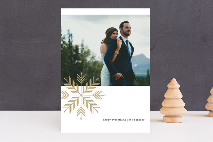 """chevron flake"" - Holiday Photo Cards in wheat by lena barakat."