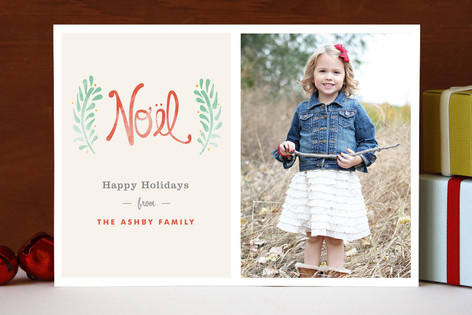 Antique Noel Holiday Photo Cards