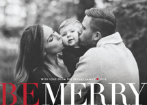 Big and Merry Holiday Photo Cards By Carrie ONeal
