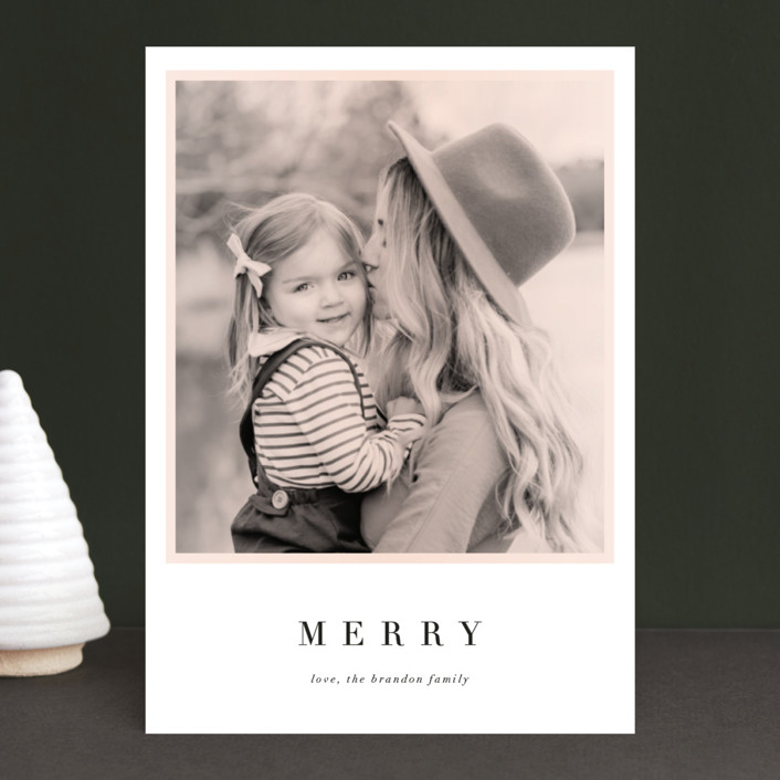 """""""Present"""" - Holiday Photo Cards in Buttercream by Jennifer Lew."""