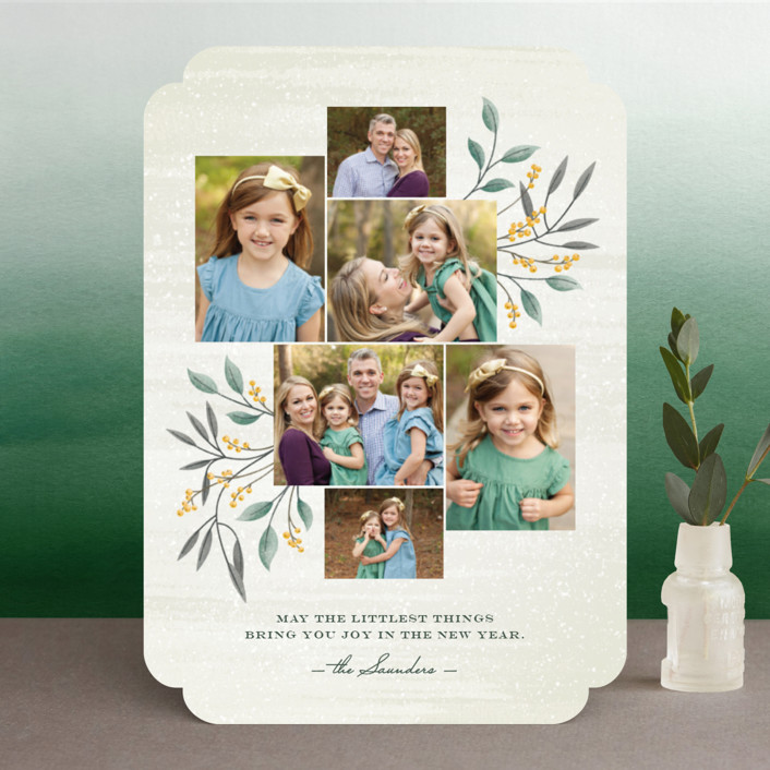 """""""Littlest Things"""" - Holiday Photo Cards in Fern by Ann Gardner."""