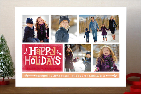 Holiday Blocks Holiday Photo Cards