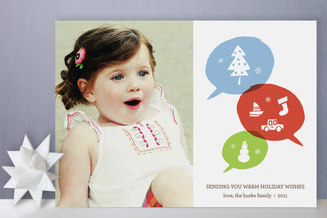 Holiday Talk Holiday Photo Cards