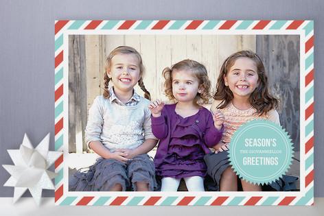 Mod Holiday Seal Holiday Photo Cards