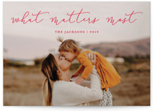 What Matters Most Holiday Photo Cards