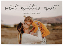 What Matters Most Holiday Photo Cards By annie clark
