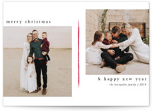 This is a red holiday photo card by Ashlee Townsend called Piper with standard printing on smooth signature in standard.