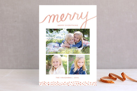 Merry Brush Holiday Photo Cards