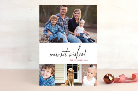 Casual Christmas Holiday Photo Cards
