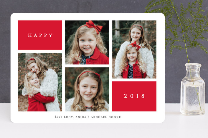 """""""Winter Windows"""" - Holiday Photo Cards in Cardinal by Stacey Meacham."""