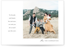 This is a white holiday photo card by carly reed walker called Oh So Much with standard printing on smooth signature in standard.