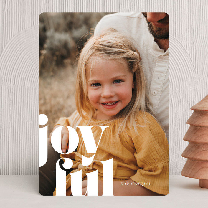 """Joyfully Bold"" - Holiday Photo Cards in Snow by Ann Gardner."