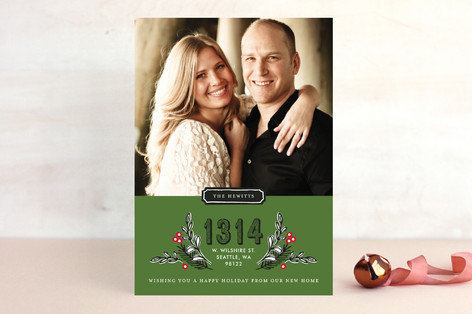 Framed Address Holiday Photo Cards