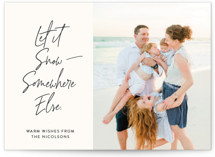 This is a white holiday photo card by Lisa Cersovsky called Witty Holiday Wishes with standard printing on smooth signature in standard.