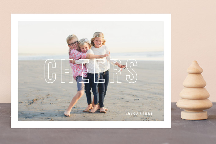 """Modern Post"" - Holiday Photo Cards in Winter by Lauren Chism."