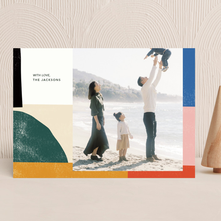 """""""Abstract Art Holiday"""" - Modern Holiday Photo Cards in Candy by Ampersand Design Studio."""