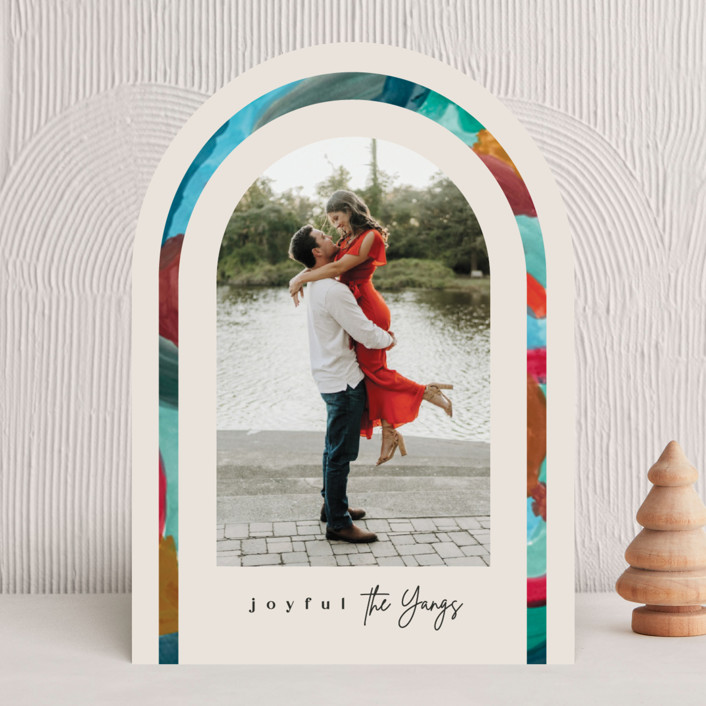 """""""Festive arch"""" - Modern Holiday Photo Cards in Pudding by Creo Study."""