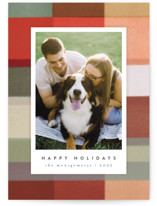 This is a red holiday photo card by Julie Murray called Buffalo with standard printing on pearlescent in standard.