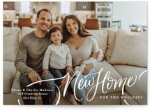 This is a white holiday photo card by Erin German called A New Home for the Holidays with standard printing on recycled smooth signature in standard.