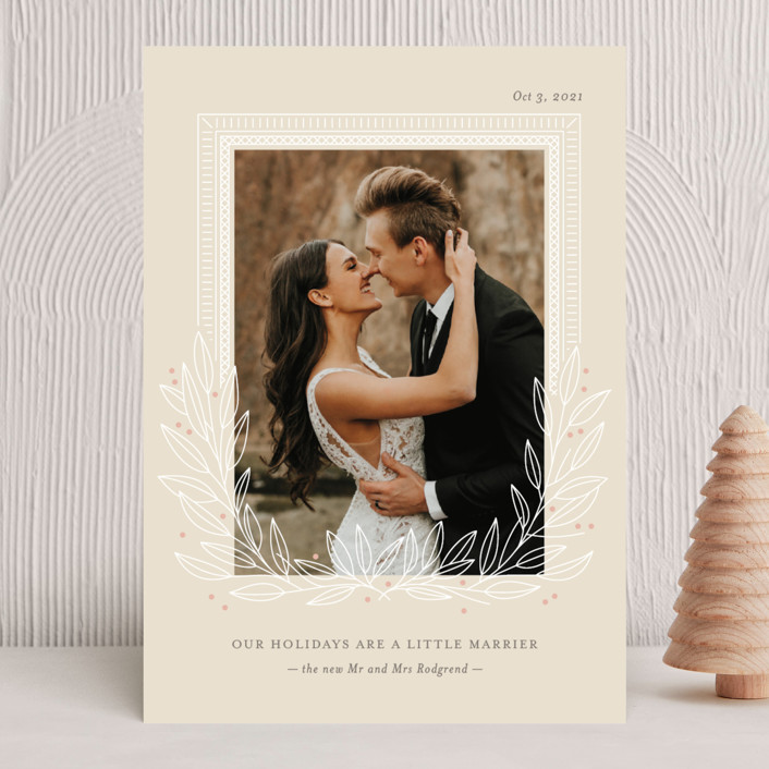 """""""Marrier Holidays"""" - Holiday Photo Cards in Sand by Ann Gardner."""