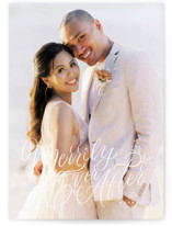 This is a white holiday photo card by Jackie Crawford called Merrily Ever After with standard printing on recycled smooth signature in standard.