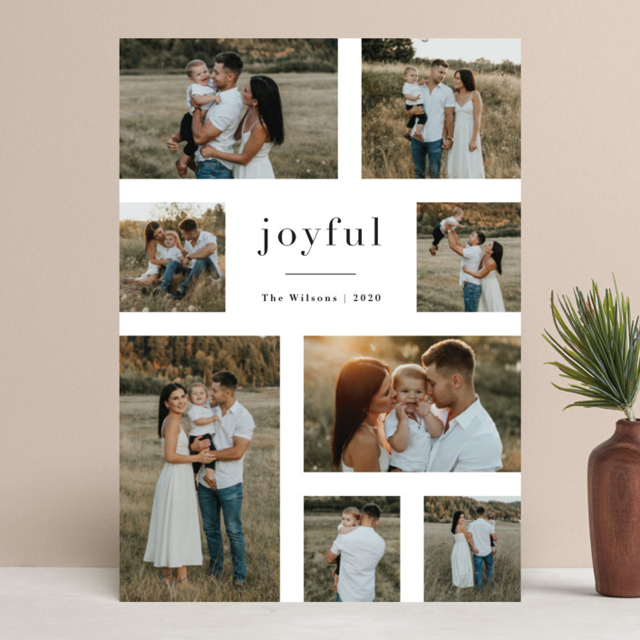 """""""Editorial"""" - Holiday Photo Cards in Snow by Jennifer Wick."""