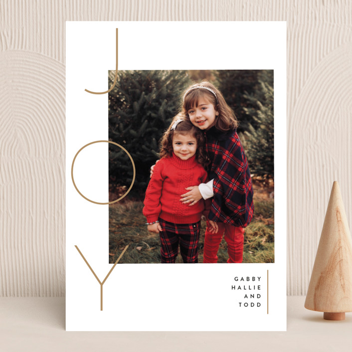 """""""Your reasons"""" - Holiday Photo Cards in Champagne by Susan Brown."""