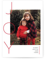 This is a red holiday photo card by Susan Brown called Your reasons with standard printing on smooth signature in standard.