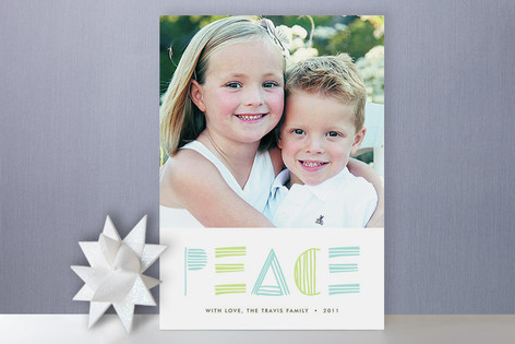 Simple Peace Holiday Photo Cards