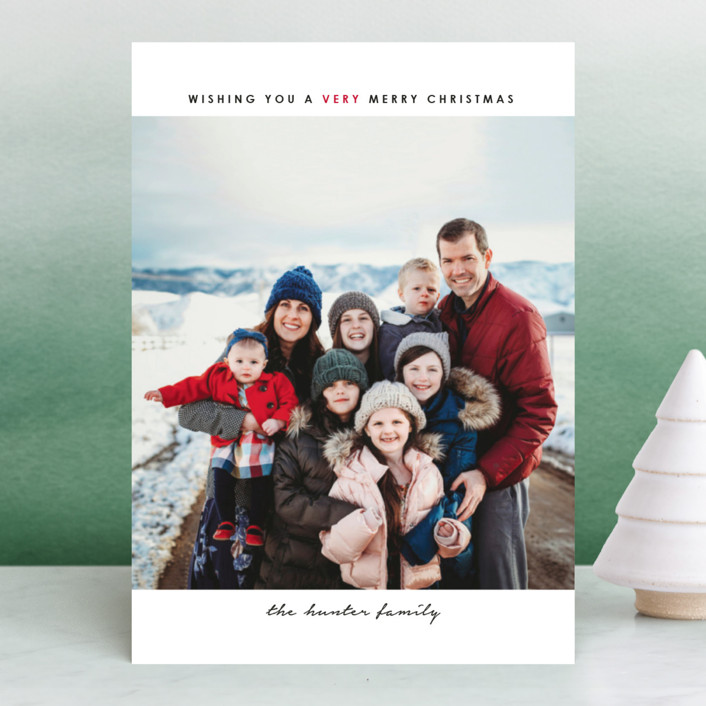 """""""simple christmas"""" - Holiday Photo Cards in Cherry by Laura Hamm."""