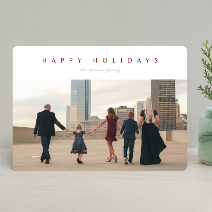 """Class"" - Holiday Photo Cards in Crimson by Erin L. Wilson."