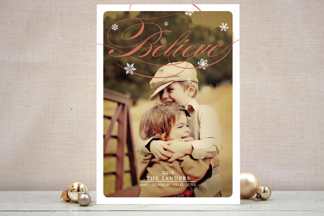 Fresh Flurries Holiday Photo Cards